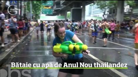 Bătaie cu apă de Anul Nou thailandez