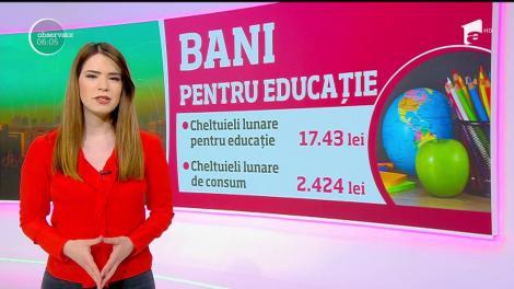 Cât investesc românii în sistemul de învăţământ