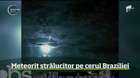 Imagini de poveste în Brazilia, unde un meteorit a provocat o explozie de lumină pe cer