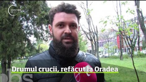 Drumul crucii, refăcut la Oradea, de câteva sute de credincioşi greco-catolici