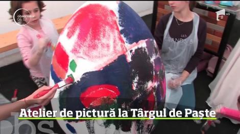 Atelier de pictură la Târgul de Paște din cetatea din Oradea