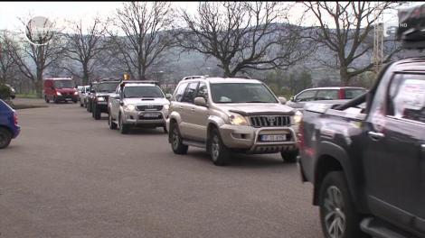 Caravană umanitară off-road în Buzău