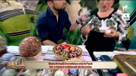 Ileana Hotopilă, meșter și artist popular, încondeiază ouă de Paște într-o tehnică tradițională din Bucovina: Meseria asta se învață din familie