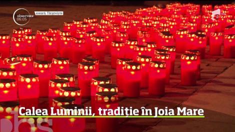 Oraşul Târgovişte s-a luminat într-o tradiţie care se ţine, de două decenii, în fiecare an în Joia Mare