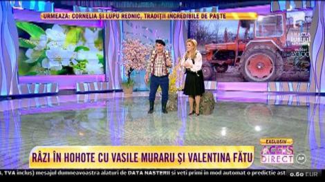 """Râzi în hohote în a doua zi de Paște! Vasile Muraru și Valentina Fătu, cea mai tare scenetă de teatru: """"Mi se pare că vă cunosc de undeva!"""""""