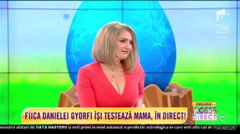 Fiica Danielei Gyorfi își testează mama, în direct. Cum a reacționat artista