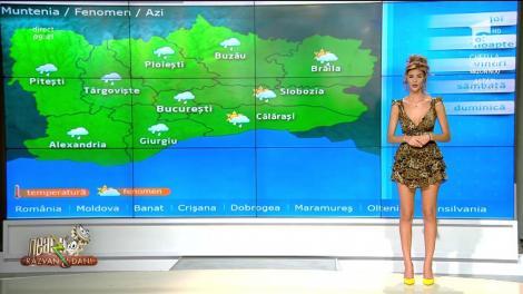 Prognoza meteo a zilei. Precipitații și vânt în majoritatea zonelor țării
