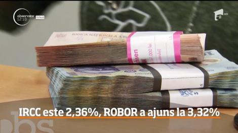 IRCC este 2,36%, Robor a ajuns la 3,32%