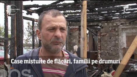 Trei locuinţe din comuna Balaca din Prahova au fost făcute scrum