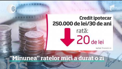 Noul indice, care înlocuieşte Robor şi care influenţează împrumuturile în lei, aduce rate cu câteva zeci de lei mai mici şi nu cu sute