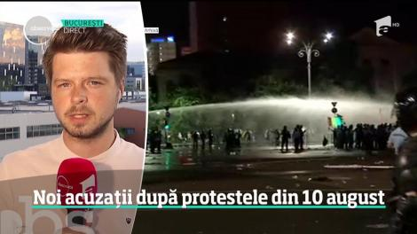 Noi acuzații după protestele din 10 august