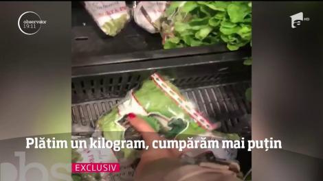 Fructele şi legumele ambalate în pungi nu au întotdeauna greutatea de pe ambalaj