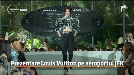 Excentricul şi-a spus cuvântul la noua prezentare Louis Vuitton! Modelele au defilat pe cel mai mare aeroport din New York
