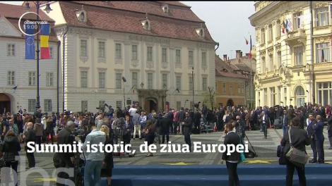 Viitorul Uniunii Europene s-a scris la Sibiu. De ziua Europei, liderii celor 27 de state s-au reunit pentru a stabili cum va arăta viaţa noastră în Uniune, în următorii ani