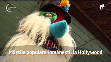 Măştile româneşti au ajuns la Hollywood! Un set de patru măşti populare au ajuns în personajelor principale din celebrul serial american Lucifer