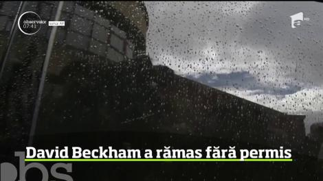 David Beckham a rămas fără permis de conducere pentru 6 luni! A fost turnat de un martor! Ce făcea la volan - Video