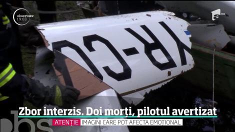 Pilotul avionului uşor care s-a prăbuşit în Munţii Buzăului ar fi ignorat avertismentul de vreme rea