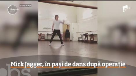 Mick Jagger, în pași de dans, după ce a fost operat la inimă