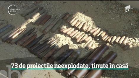 73 de proiectile neexplodate, ținute în casă! Căutătorul de comori s-a ales cu dosar penal