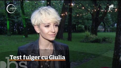 Test fulger cu Giulia. Cum s-a descurcat vedeta