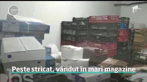 Inspectorii ANPC au găsit pește stricat în mai mult de jumătate din marile magazine controlate