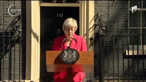 Premierul Marii Britanii, Theresa May, şi-a anunţat, cu lacrimi în ochi, plecarea din Guvernul britanic