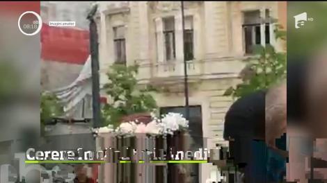 O cerere în căsătorie mai puţin obişnuită a avut loc la Cluj-Napoca