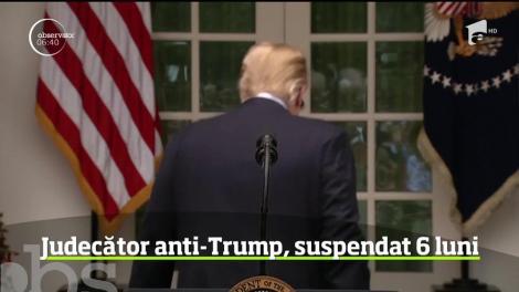 Un judecător din Utah a fost suspendat, fără plată, pentru şase luni, după ce l-a criticat pe Donald Trump