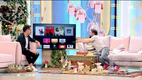 Neatza cu Răzvan și Dani. Dani Oțil, scos din sărite de telecomanda de la TV