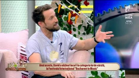 David Adrian Ștefan cântă, la Neatza cu Răzvan și Dani, melodia Who's loving you