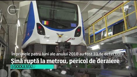 Încă un incident grav pune în pericol siguranţa la metrou. O şină s-a rupt lângă staţia Pipera