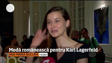 Într-un decor fabulos, mai mulţi designeri romani şi-au prezentat câte o colecţie capsulă dedicată lui Karl Lagerfeld