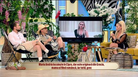 """Maria Andria îi învaţă limba greacă pe Răzvan şi Dani! Răzvan Simion: """"Greaca mea e cam ruginită"""""""