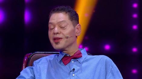 """Finala iUmor. Vasi Borcan, concurentul din scaunul cu rotile vrea să ajungă la Cotroceni! """"Au fost orbul şi mutul, de ce nu ar urma infirmul?"""""""