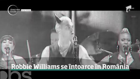 Robbie Williams se întoarce în România! Va concerta la festivalul Untold