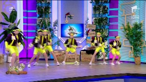 Copiii de la Teo Dance, dans energic în platoul Neatza cu Răzvan și Dani