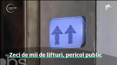În România, lifturile vechi şi neîntreţinute pun mii de vieţi în pericol, în fiecare zi
