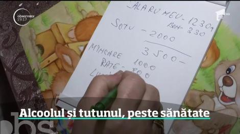 Românii îşi dau o mare parte din venituri pe tutun şi alcool