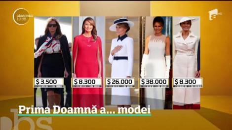 Prima Doamnă a Americii a transformat vizita de stat în Marea Britanie într-un maraton al modei. Cât a cheltuit Melania Trump pe hainele de lux