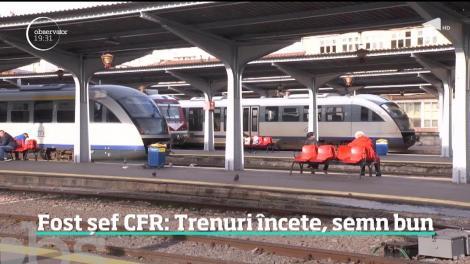 Fost șef CFR: Trenuri încete, semn bun! Calitatea infrastructurii feroviare din România ne-a dus pe locul 26 în Uniunea Europeană