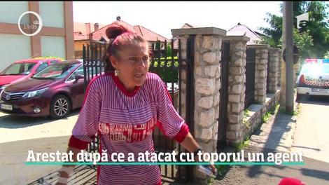 """Recidivistul care a atacat cu toporul un poliţist din Argeş, arestat preventiv! Soția lui, declarații incredibile: """"Nu l-a sunat nimeni"""""""