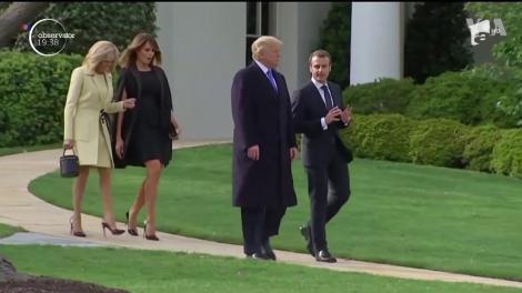 Tensiunile dintre Donald Trump şi Emmanuel Macron se resimt în grădina Casei Albe