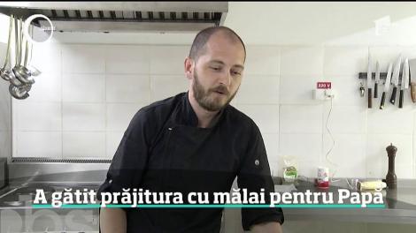 Cu două căni de mălai şi mult talent, un bucătar de 37 de ani din Cluj i-a deschis apetitul Papei Francisc