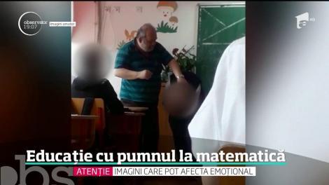 Un profesor de matematică din Bucureşti a fost filmat în timp ce pedepseşte un elev în faţa clasei