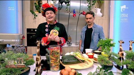 Neatza cu Răzvan și Dani. Bucurie în farfurie - o rețetă cu multe legume și brânzeturi