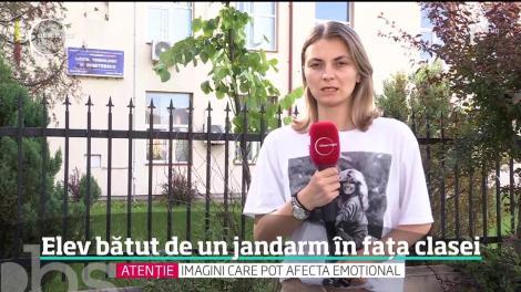 Atac fără precedent într-o şcoală din România. Un jandarm a bătut un elev în faţa clasei