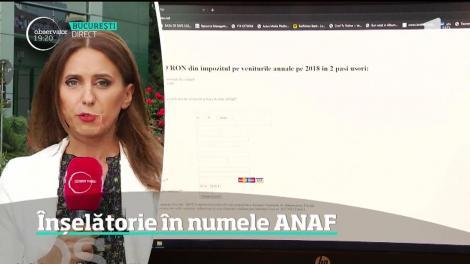 Înşelătorie în numele ANAF! Pe site fals contribuabililor li se cere să completeze un formular cu datele personale