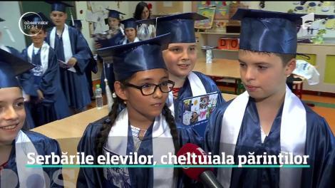 La final de an şcolar, elevii au emoţii pentru serbare, părinţii pentru buget. Plătesc sume importante pentru petrecerile tot mai pretenţioase