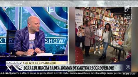 Xtra Night Show. Naty Badea, sora lui Mircea Badea, a lansat cartea Rămâi cu bine, rămâi cu mine: Eu scriu totul pe telefon, apoi transfer pe laptop