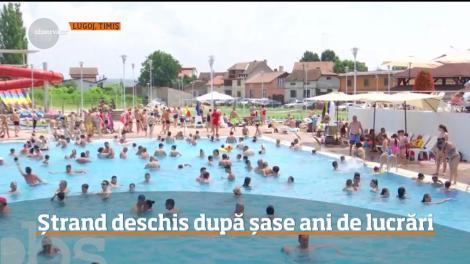 Ștrand din Lugoj, deschis după șase ani de lucrări